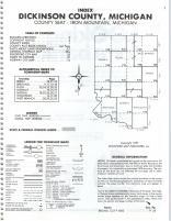 Index Map, Dickinson County 1987